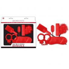 Romance Çiftlere Özel Fantezi Seti - Kırmızı / C-N9004